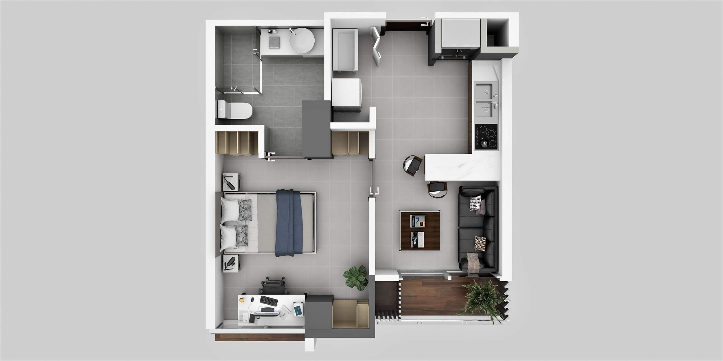 Apartamento Tipo 6A1 Habitación