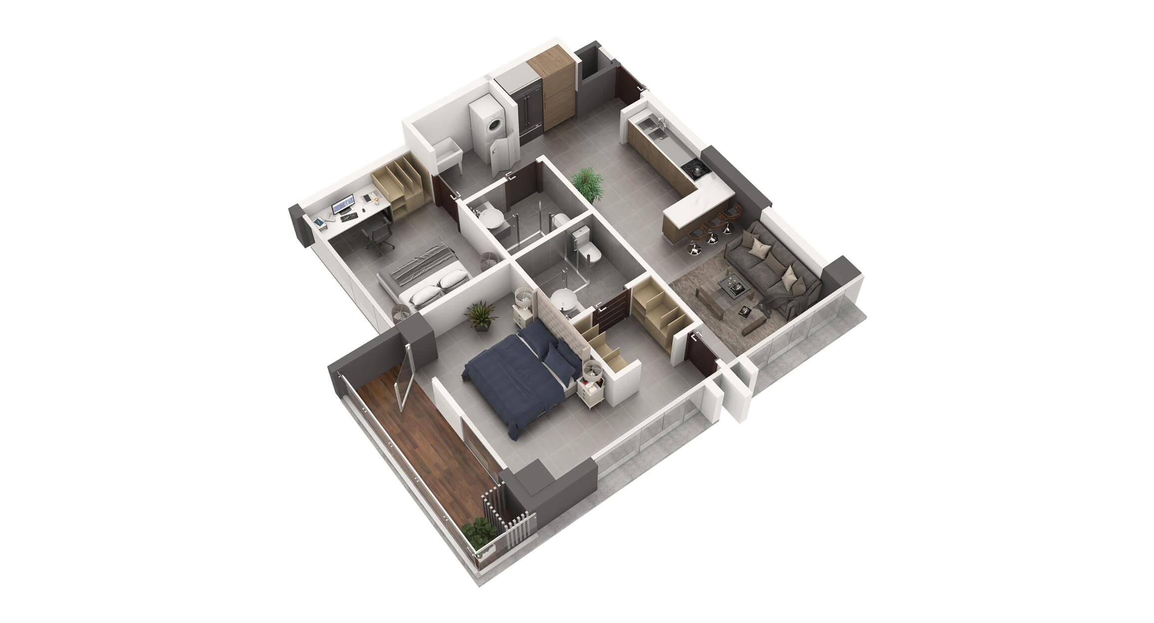 Apartamento Tipo 4A2 Habitaciones