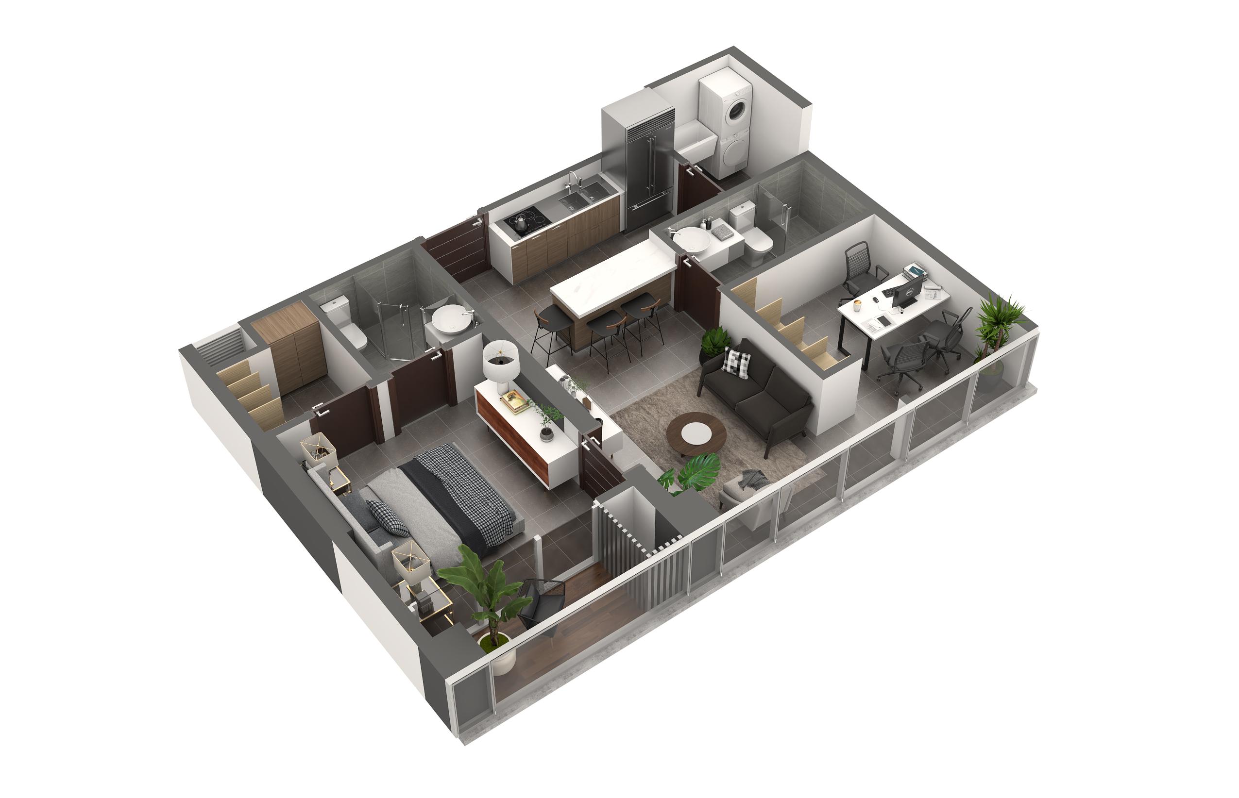 Apartamento Tipo 5A1 Habitación